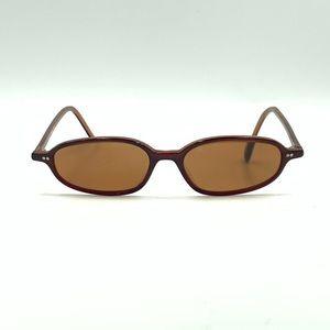 Vintage Kenneth Cole Brown Oval Sunglasses Frames